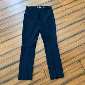 Vince black cropped pants with back slit size xs